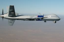 Un drone Predator des Douanes américaines. Source : US Department of Homeland Security