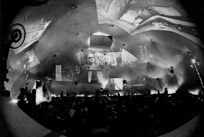 Stan van Der Beek, Movie-Drome, 1963-1965. Multimedia installation.